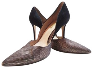 60811e93a3e Vince Camuto Black and Gold Hermosa Snake Skin Heels Pumps Size US 8 ...