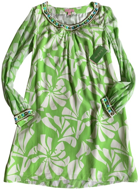 Item - Green Harper Wishing You Were Here Mid-length Night Out Dress Size 6 (S)