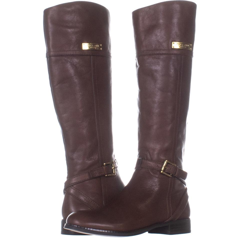 c51f66a51c4 Nine West Brown Nicolah Tall Riding 837 Cognacleather Boots/Booties Size US  7 Regular (M, B) 50% off retail
