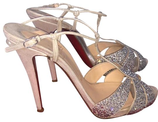 b24fa65f3db Christian Louboutin Crystal T Strap Heel Formal Shoes Size US 7.5 ...
