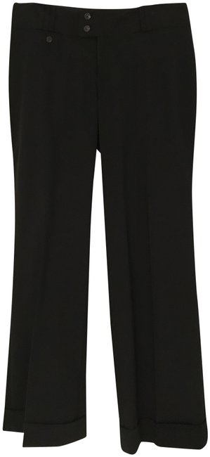 Item - Black Wool Trousers/Pants with Cuffs Pants Size 8 (M, 29, 30)