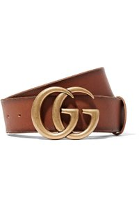 Gucci GG logo leather belt size 80