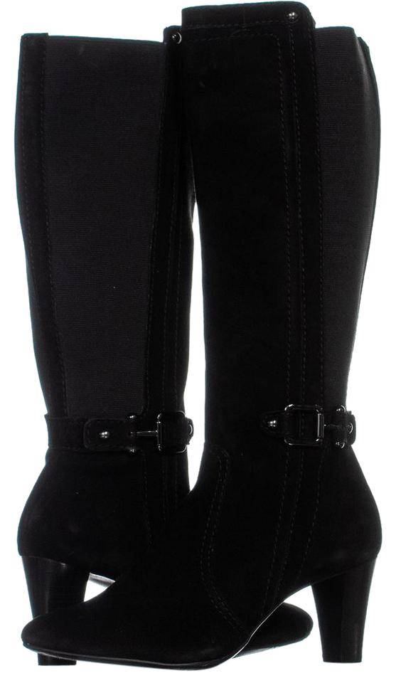f75e78bd3b6 Calvin Klein Black Sama Stretch Wedge 457 Boots Booties Size US 9.5 ...