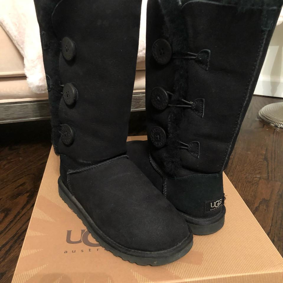17abed67e87 UGG Australia Black Bailey Button Triplet Boots/Booties Size US 6 Regular  (M, B) 58% off retail