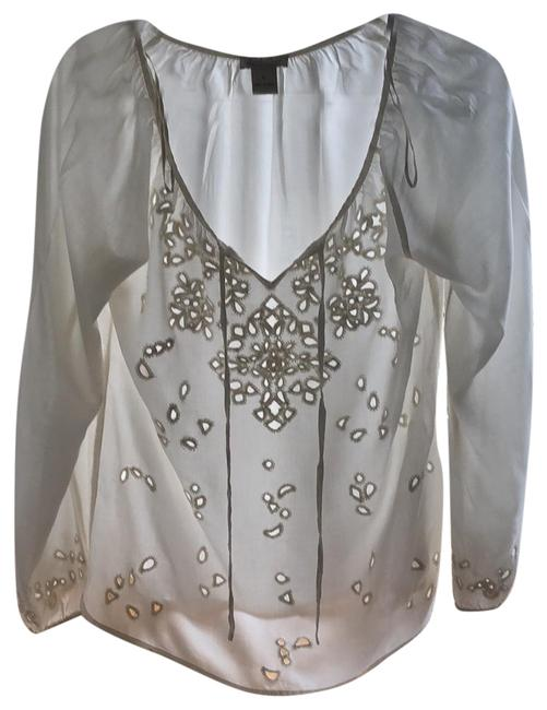 Lucky Brand Cream Lived In Love Peasant Blouse Size 4 (S) Lucky Brand Cream Lived In Love Peasant Blouse Size 4 (S) Image 1