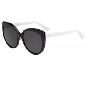 f034b4ddcc8 Dior Dior Diorific Black Gold White (black lens) Plastic Sunglasses 57mm