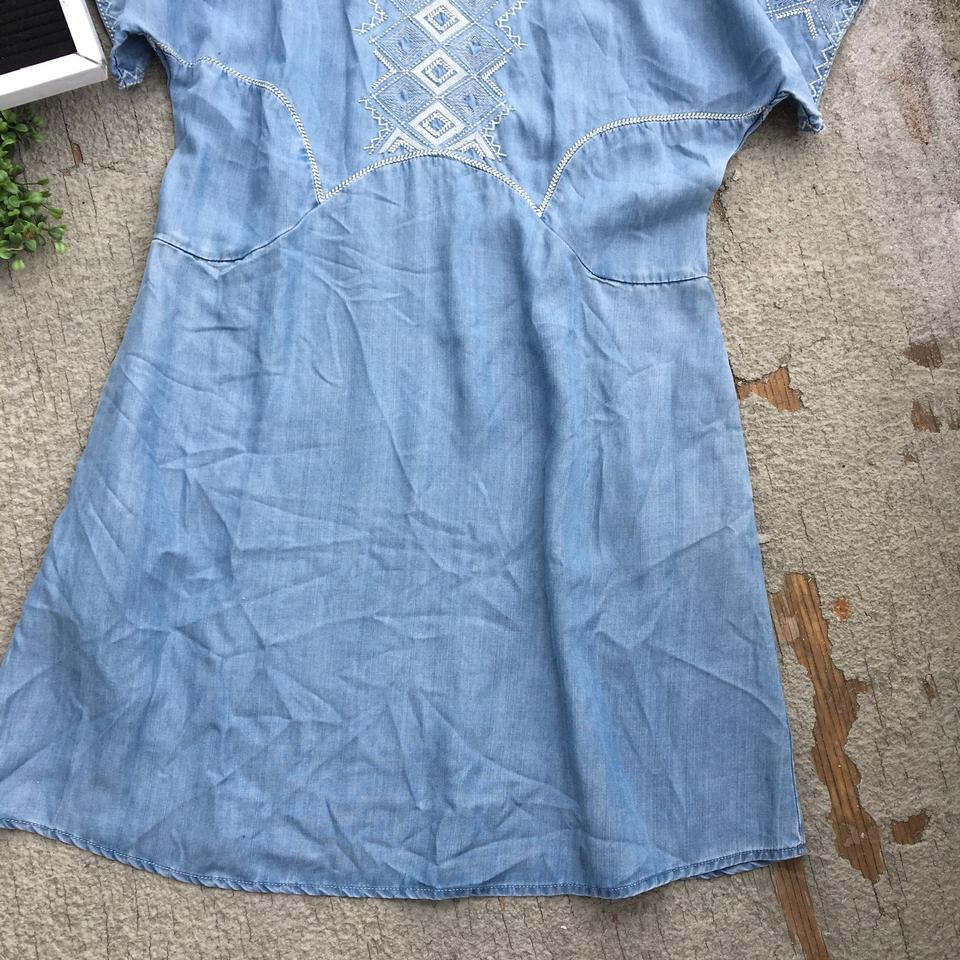 b4b9aa1646f Anthropologie Blue Holding Horses White Sands Chambray Tunic Size 2 (XS) -  Tradesy