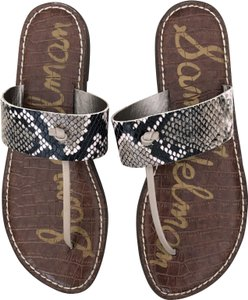Sam Edelman Black/White Snake Print Sandals