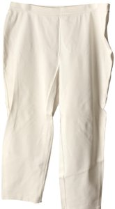 Talbots New With Tags Knit X-large Side Zipper Machine Washable Straight Pants Off-White Petite