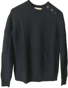 Tory Burch Buttons Cable Braided Logo Sweater
