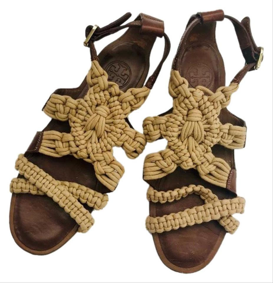 908c77514 Tory Burch Cream Braided Rope Sandals Size US 8 Regular (M