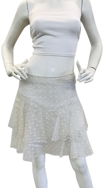 Item - Ivory Silk Embroidered Skirt Size 6 (S, 28)
