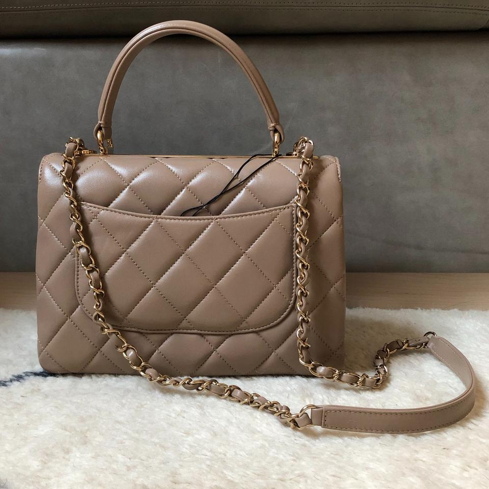 27ade1293aa8a6 Chanel Small Quilted Trendy Cc Gold Hardware New Beige Lambskin ...