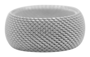 Tiffany & Co. Sterling Silver Somerset Dome Mesh Weave Rigid Ring