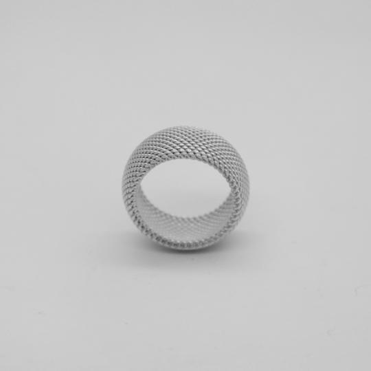 Tiffany & Co. Sterling Silver Somerset Dome Mesh Weave Rigid Ring Image 1