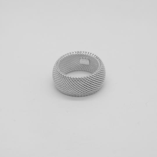 Tiffany & Co. Sterling Silver Somerset Dome Mesh Weave Rigid Ring Image 2