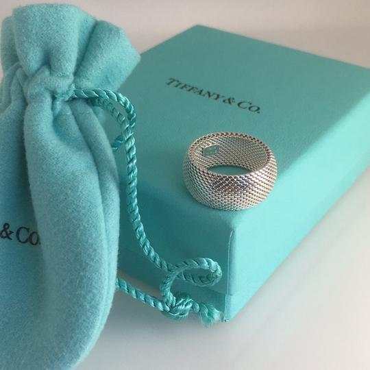 Tiffany & Co. Sterling Silver Somerset Dome Mesh Weave Rigid Ring Image 3