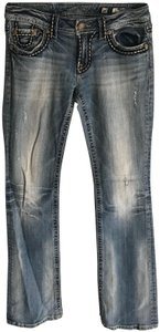 Miss Me Distressed Denim Boot Cut Jeans-Distressed