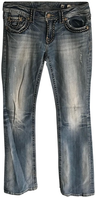 Item - Blue Distressed Sunny Boot Cut Jeans Size 30 (6, M)