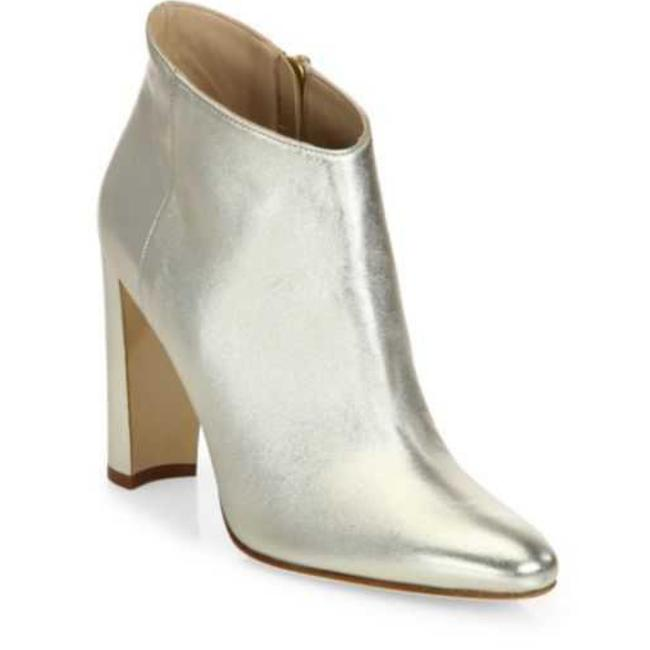 Item - Platinum Gold Brusta Leather Ankle Boots/Booties Size EU 39 (Approx. US 9) Narrow (Aa, N)