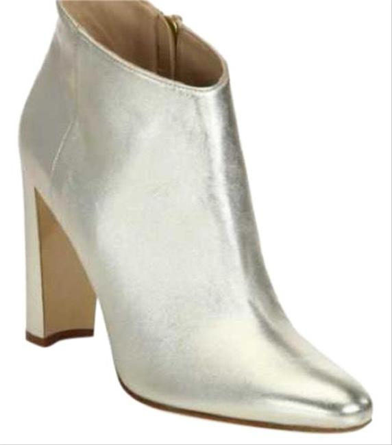Item - Platinum Gold Brusta Leather Ankle Boots/Booties Size EU 40 (Approx. US 10) Narrow (Aa, N)
