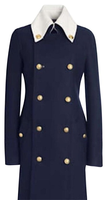 Item - Navy and White Special Edition Coat Size 0 (XS)