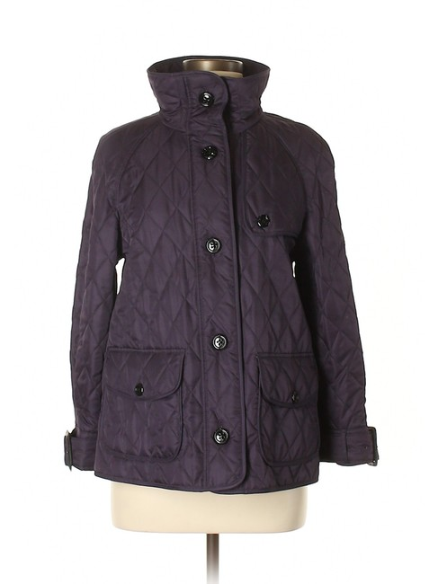 Item - Dark Purple Funnel Neck A-line Quilted Nova Check Lined Jacket Size 8 (M)