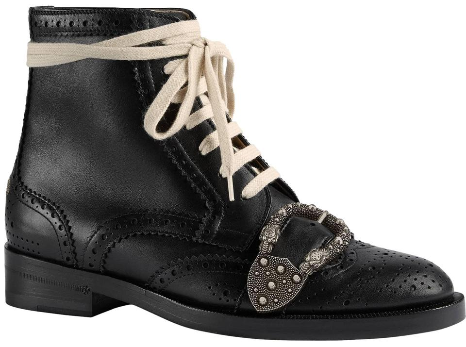 aed44536f Gucci Black Dionysus Queercore Brogue Bee Princetown Boots/Booties ...