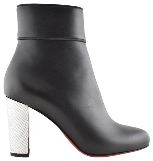 Preload https://img-static.tradesy.com/item/24796814/christian-louboutin-black-moulamax-85-leather-silver-disco-ball-heel-ankle-zip-bootsbooties-size-eu-0-1-540-540.jpg