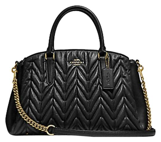 Preload https://img-static.tradesy.com/item/24796897/coach-sage-carryall-tote-quilting-shoulder-f31457-black-patent-leather-satchel-0-1-540-540.jpg