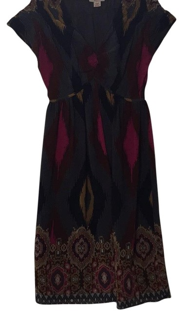 Item - Silk Print Mid-length Night Out Dress Size 6 (S)