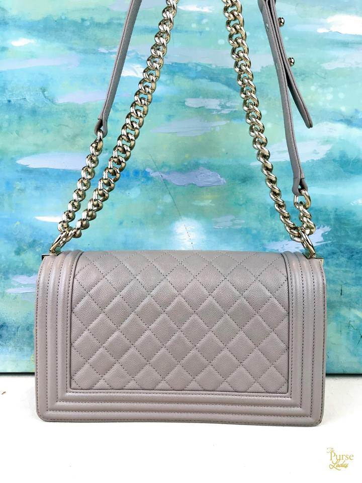42799d232590dd Chanel Boy Taupe Quilted Caviar Cc Sale Beige Leather Shoulder Bag - Tradesy