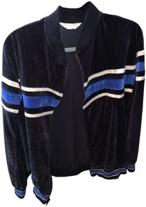 Dior Vintage Velour Athletic Sporty Sweatshirt