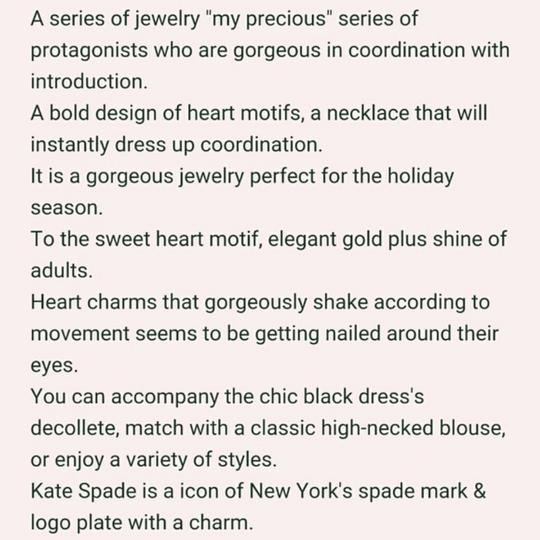 Kate Spade kate spade new york Red Heart Charm Necklace