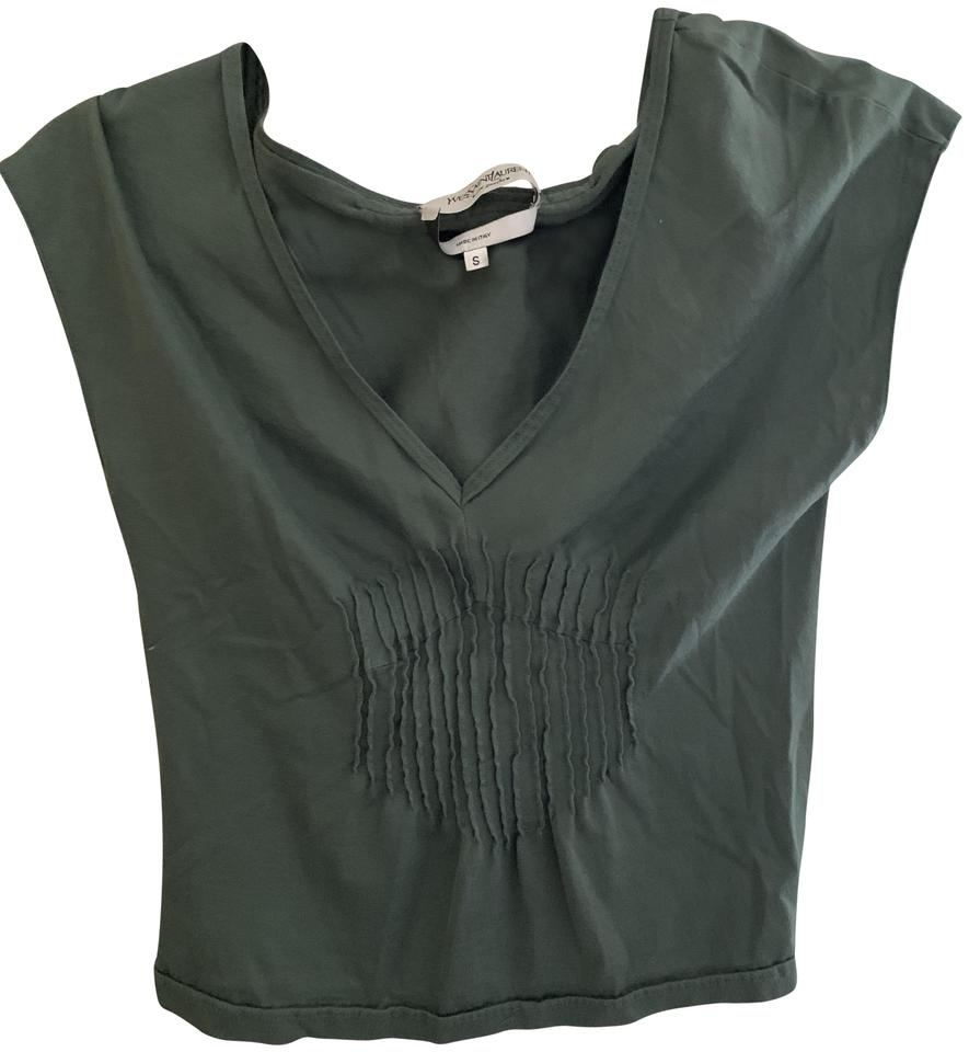 3f7be3016fc Saint Laurent Olive Green Vintage Tee Shirt Size 4 (S) - Tradesy