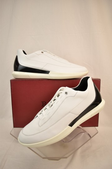 Bally White Avier Leather Logo Black Back Low Sneakers 12 Us 45 Italy Shoes