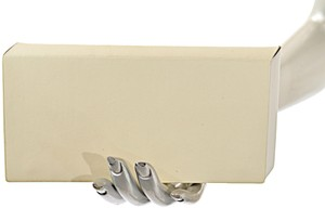 Isaac Reina ISAAC REINA Ivory & Butter Pleated Box Travel Wallet Made in France