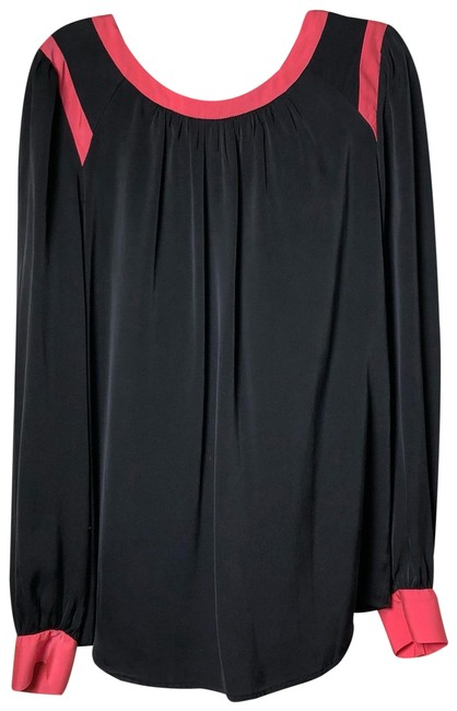 Preload https://img-static.tradesy.com/item/24797200/milly-black-and-pinks-silk-long-sleeve-blouse-size-4-s-0-1-650-650.jpg
