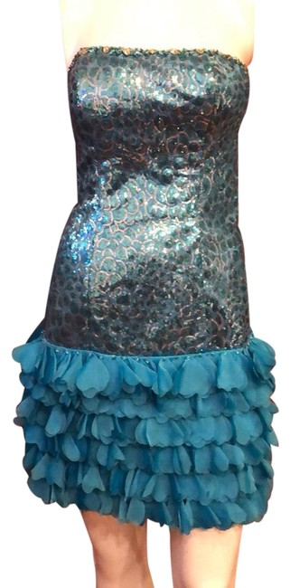 Item - Blue Couture #214 Strapless Sequined Cocktail/Party Short Cocktail Dress Size 6 (S)
