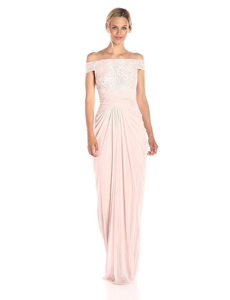 1a7aa871a072 Adrianna Papell Blush Women's Off Shoulder Sequin and Stretch Tulle ...