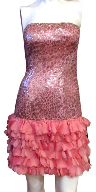 Preload https://img-static.tradesy.com/item/24797215/amelia-pink-couture-214-strapless-sequined-cocktailparty-short-casual-dress-size-6-s-0-1-650-650.jpg
