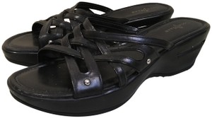 Cole Haan Wedge Black Sandals