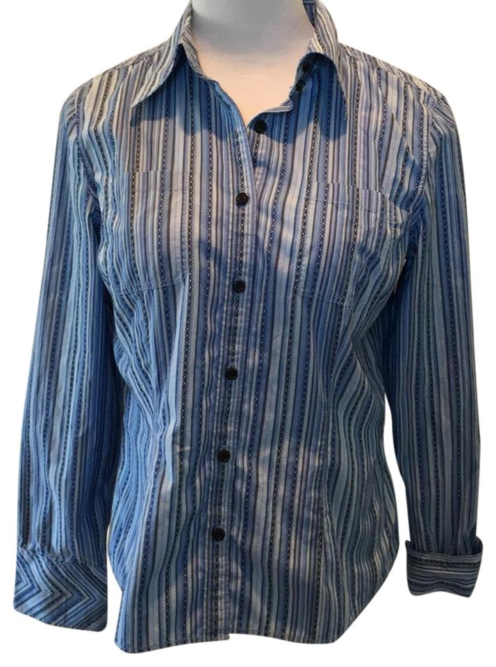 ed5aa624 Tommy Hilfiger Blue Blouse Size 12 (L) - Tradesy