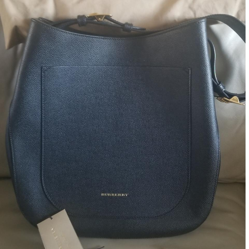 Burberry Small Elmstone Black Leather Hobo Bag - Tradesy d769d9d6bc43f