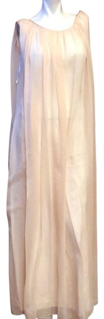 Item - Beige Couture #305 Cocktail/Party Formal Gala Wedding Gown Pink Long Cocktail Dress Size 6 (S)