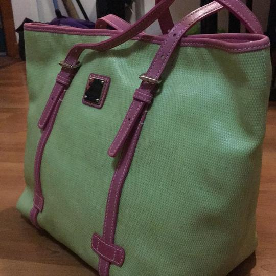 Dooney & Bourke Tote in Lime and Pink Image 1