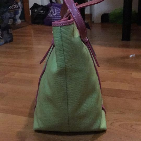 Dooney & Bourke Tote in Lime and Pink Image 2