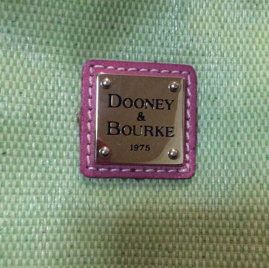 Dooney & Bourke Tote in Lime and Pink Image 5