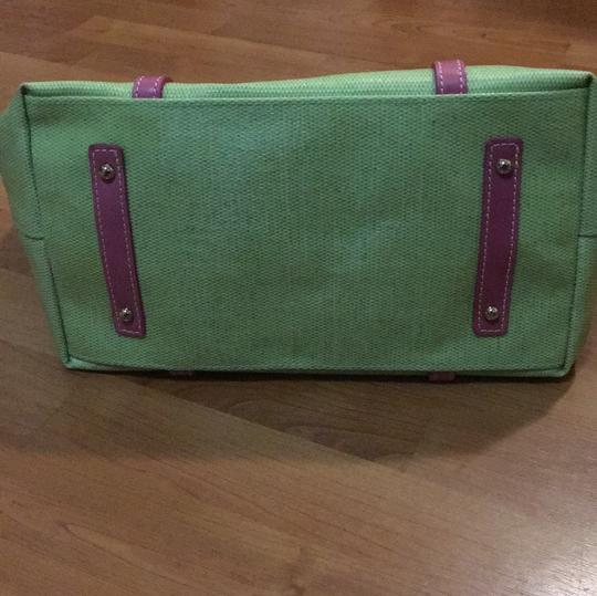 Dooney & Bourke Tote in Lime and Pink Image 6