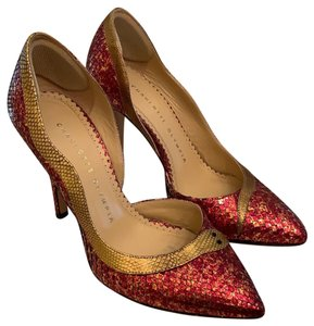 Charlotte Olympia red and gold Pumps